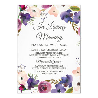 Floral Wreath Memorial Announcement Service