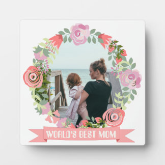 Floral wreath monogram photo frame