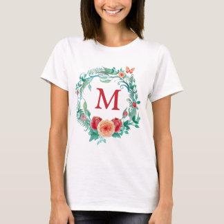 Floral Wreath Monogram T-Shirt