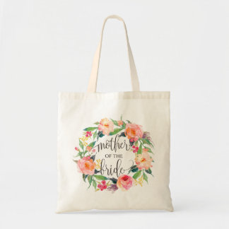 Floral Wreath, Mother of the Bride, Calligraphy-1 Tote Bag