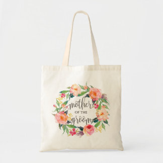 Floral Wreath, Mother of the Groom, Calligraphy-1 Tote Bag