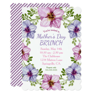Floral Wreath Mother's Day Brunch Party Card