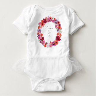 Floral Wreath Mummy & Me Baby Bodysuit