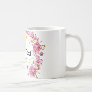 Floral Wreath personalised Text Cup