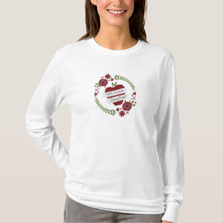 Floral Wreath Red Apple Fifth Grade Teacher T-Shirt