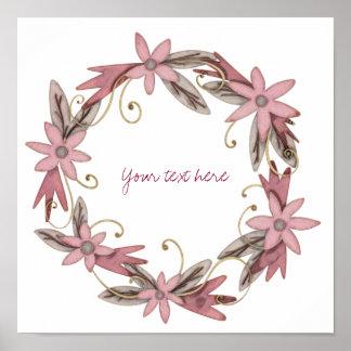 Floral wreath wall art