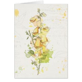 Floral Yellow Splash Card