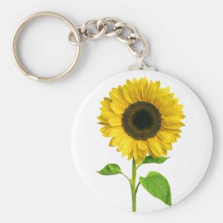 Floral Yellow Sunflower Flower Keychain
