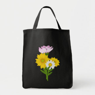 Floral Yellow Sunflowers White Daisy Purple Flower