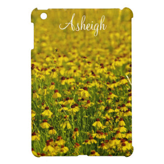 Floral yellow wildflowers photo iPad mini case