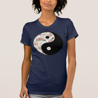Floral Yin and Yang Tshirts