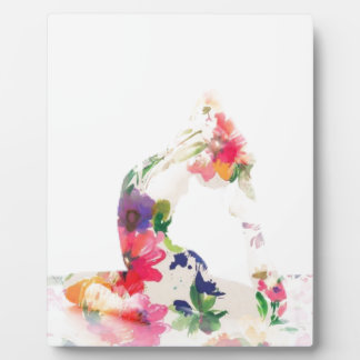 Floral Yoga Pose Series Plaque