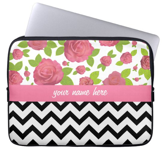 Floral & Zigzag Mixed Prints Electronics Bag
