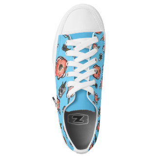 Floral Zip High Tops Printed Shoes