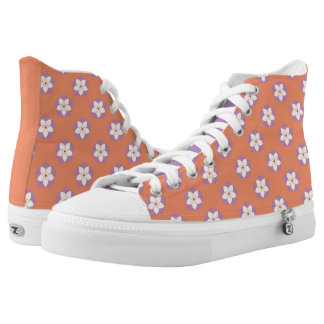 Floral ZIPZ High Top Shoes Printed Shoes