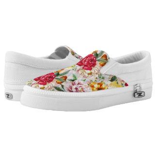 Floral Zipz Slip On Shoes, US Men 4 / US Women 6 Printed Shoes