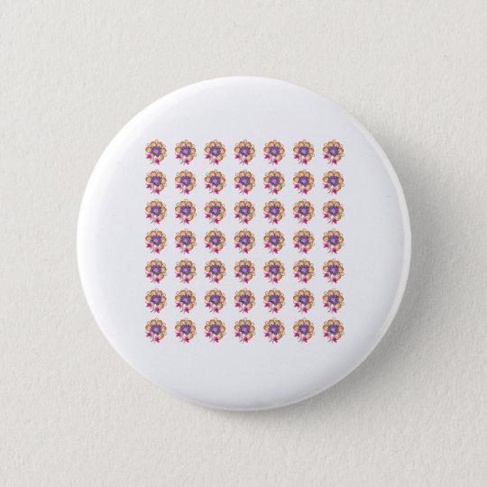 Florals 6 Cm Round Badge