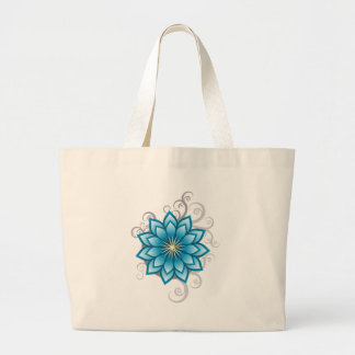 Florals - Blue Tote Bags
