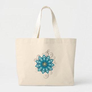 Florals - Blue Jumbo Tote Bag