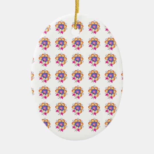 Florals Ceramic Ornament