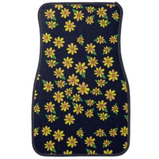 florals daisy car mat