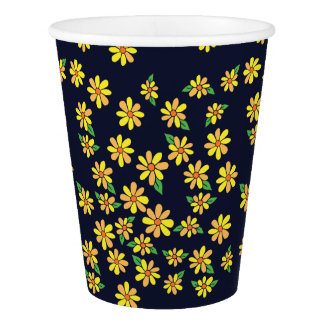 florals daisy paper cup