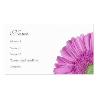 Florals - Gerbera Daisy Pack Of Standard Business Cards