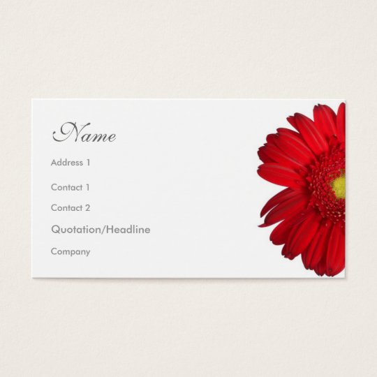 Florals - Red Daisy Business Card