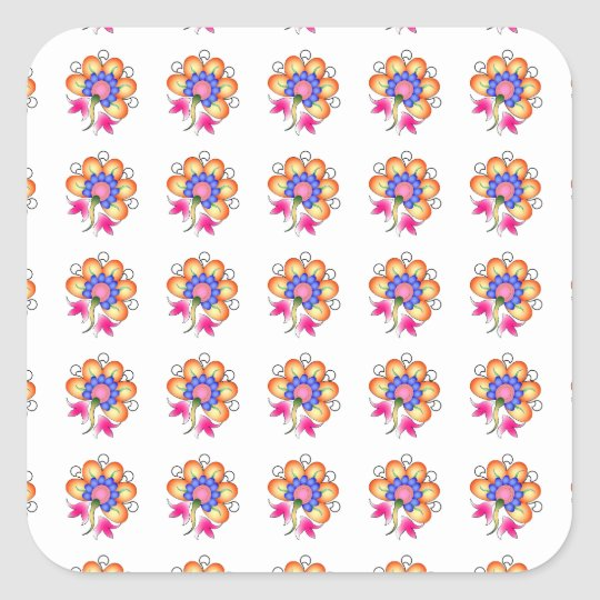 Florals Square Sticker