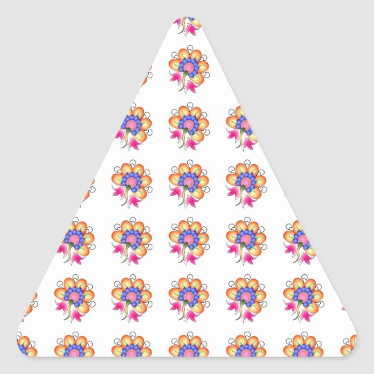 Florals Triangle Sticker