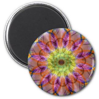Floramoeba Star Mandala 6 Cm Round Magnet