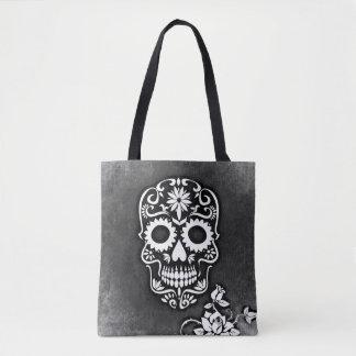 Floreal Skull Tote Bag