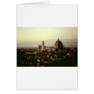 Florence - A View across the city to the Duomo Card