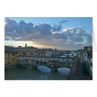 Florence - Arno Sunset Card
