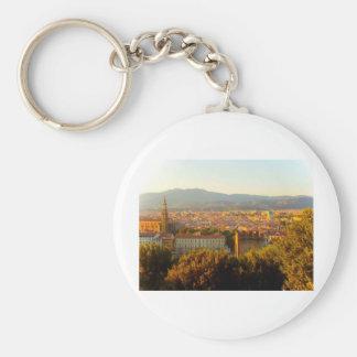 Florence before sunset basic round button key ring