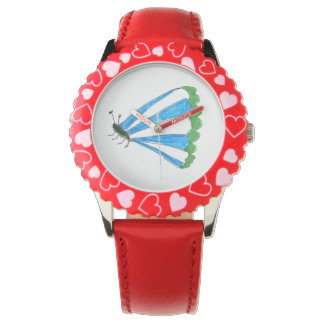Florence Bezel with Red Hearts Watch