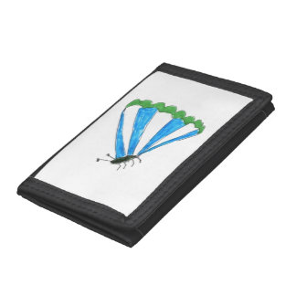Florence Black TriFold Nylon Wallet