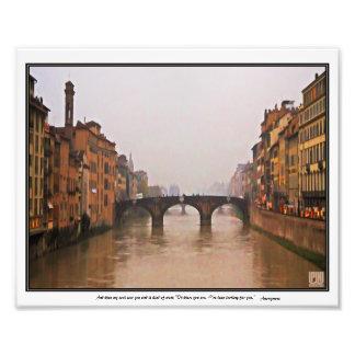 Florence Bridge With Love Quote Photo