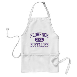 Florence - Buffaloes - High - Florence Texas Standard Apron