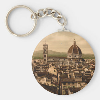 Florence Cathedral, Tuscany, Italy Basic Round Button Key Ring