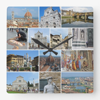 Florence collage wallclocks