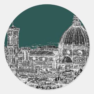 Florence dark green stickers