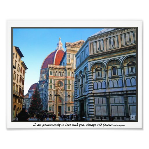 Florence Duomo Cathedral with Love Quote Photo Art