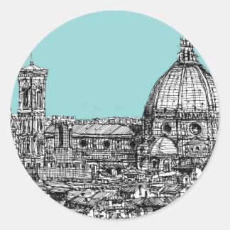 Florence duomo pale blue sticker