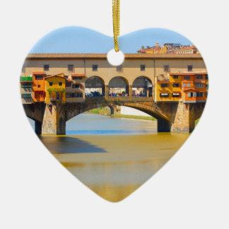 Florence -Firenze, Ponte vecchio Ceramic Ornament