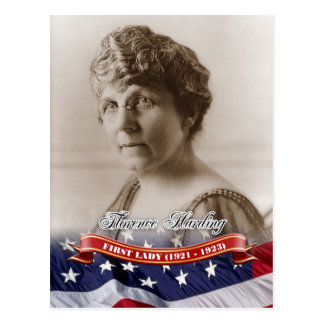 Florence Harding, First Lady of the U.S. Postcard