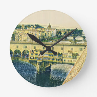Florence in Art Round Clock