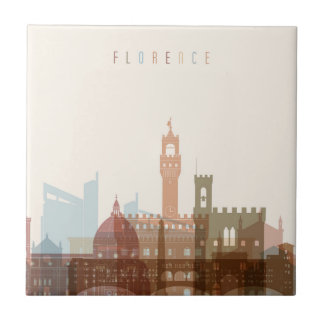 Florence, Italy | City Skyline Ceramic Tile