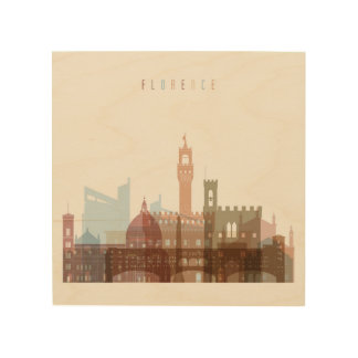 Florence, Italy   City Skyline Wood Print