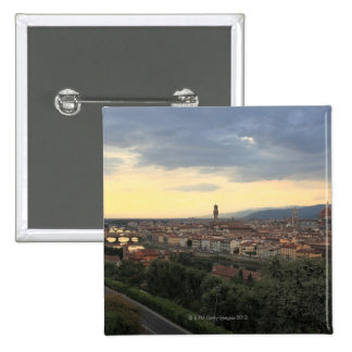 Florence, Italy Cityscape. 15 Cm Square Badge